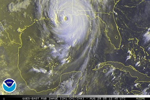 Hurricane Katrina, 12:45Z August 29, 2005