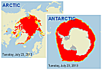 Polar Ice Coverage graphic