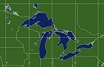 GOES East Great Lakes Coverage Area