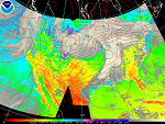 Sample GOES Surface Temperature Image