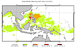 Sample Coral Triangle Bleaching Alert Area Chart for July 23, 2012