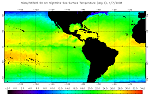 Sample SST Night time 50 km Imagery