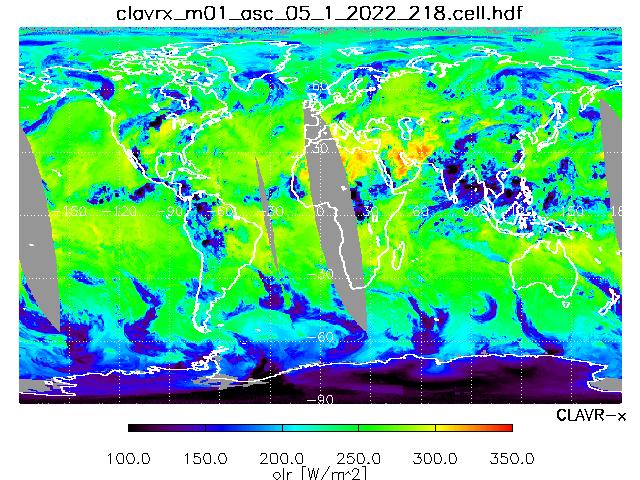 Outgoing Longwave Radiation from METOP-B Ascending Orbit