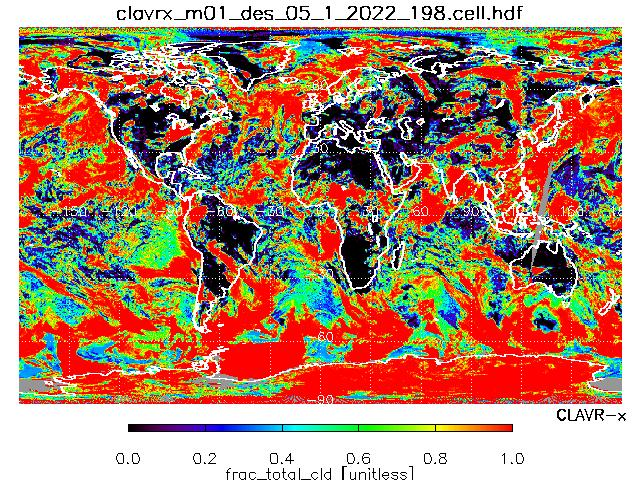 Total Cloud Fraction from METOP-B Descending Orbit