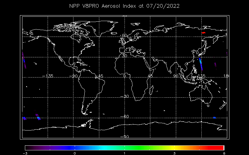 Latest OMPS V8PRO Aerosol Index from Daily Product