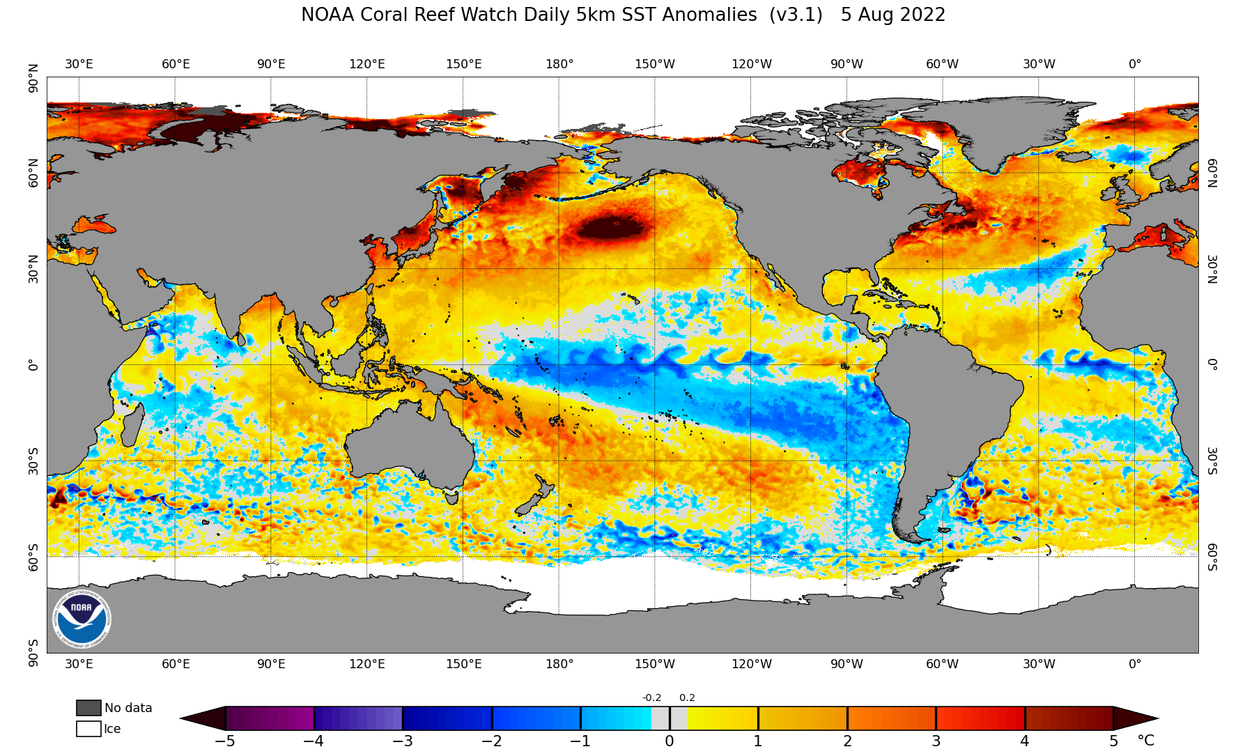 SST Anomaly daily current