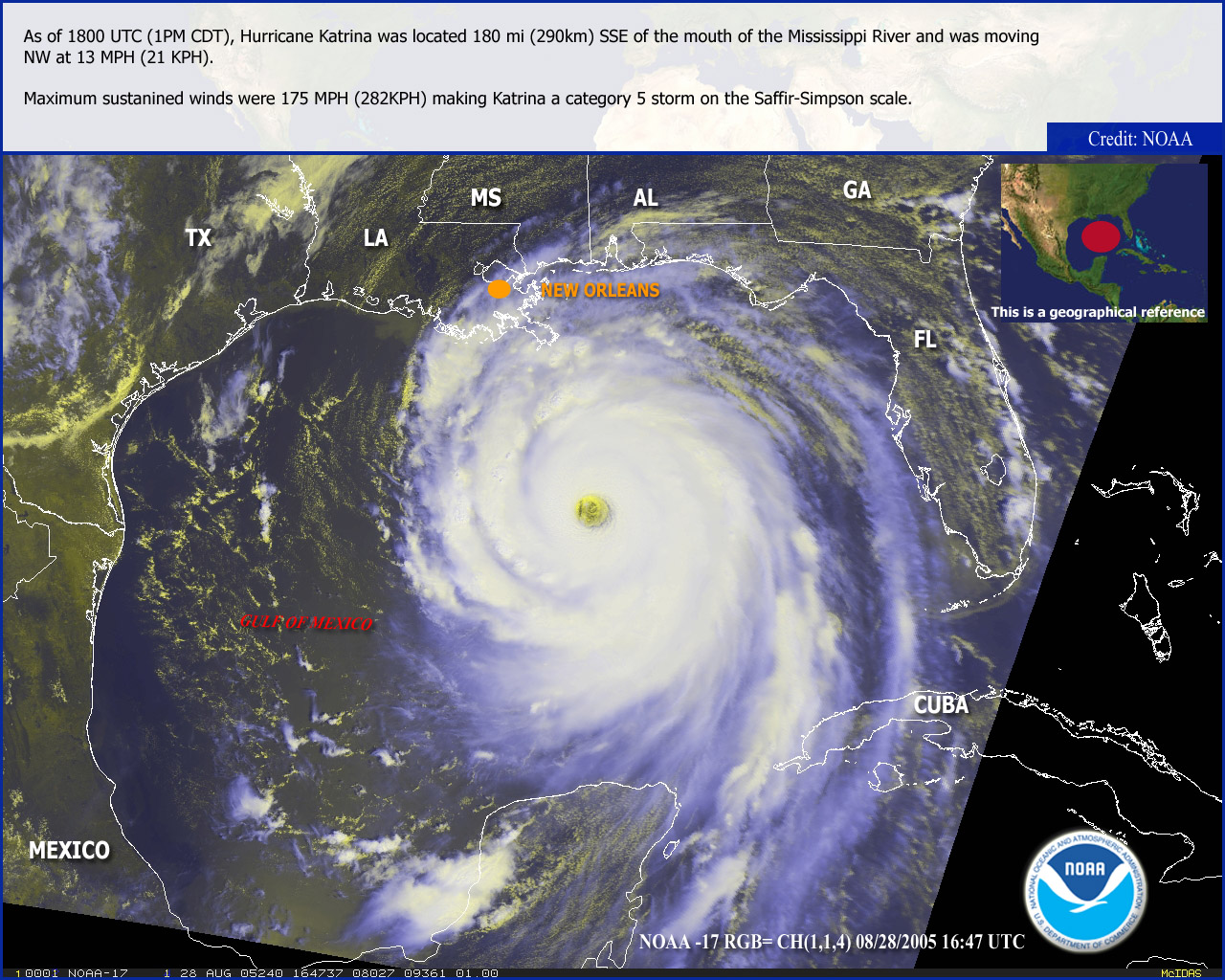 What is a Tropical Cyclone? - HeaterMeals  Hurricane Katrina Satellite Thermal