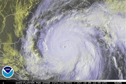 Hurricane Wilma, 12:45Z October 19, 2005