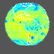 GOES East Longwave Upward Top-of-Atmosphere Image