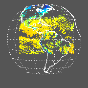 GOES East Surface Temperature Image