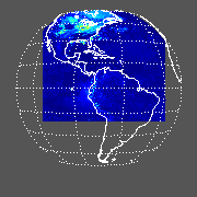 GOES East Shortwave Upward Surface Image