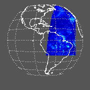 GOES East Shortwave Upward Top-of-Atmosphere Image