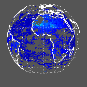 METEOSAT Shortwave Upward TOA Flux - Clear Sky