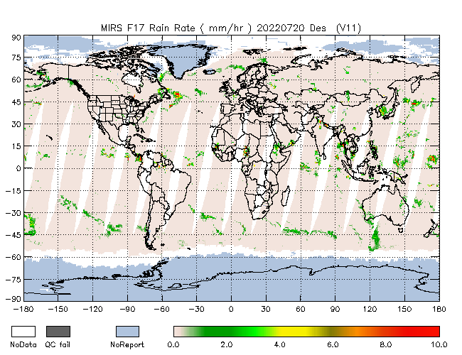 Rain Rate from DMSP-F17, Descending Orbit