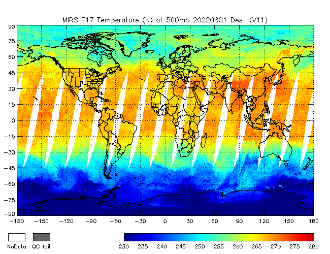 500mb Temperature from DMSP-F17, Descending Orbit