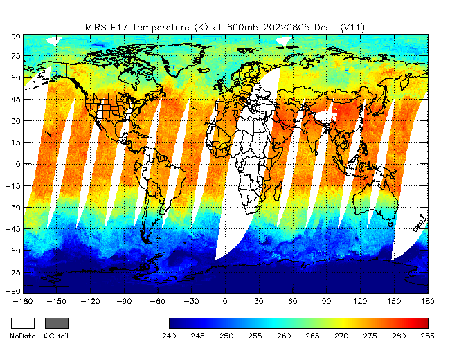 600mb Temperature from DMSP-F17, Descending Orbit