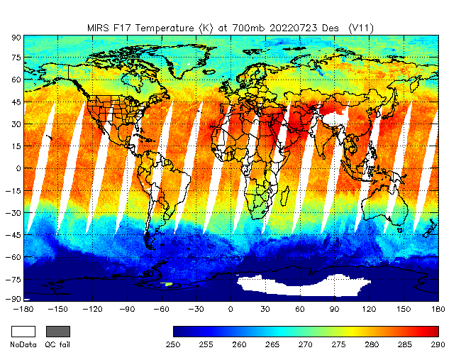 700mb Temperature from DMSP-F17, Descending Orbit