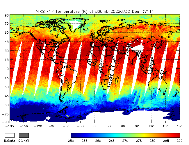 800mb Temperature from DMSP-F17, Descending Orbit