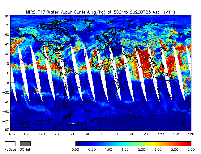 500mb Water Vapor from DMSP-F17, Ascending Orbit