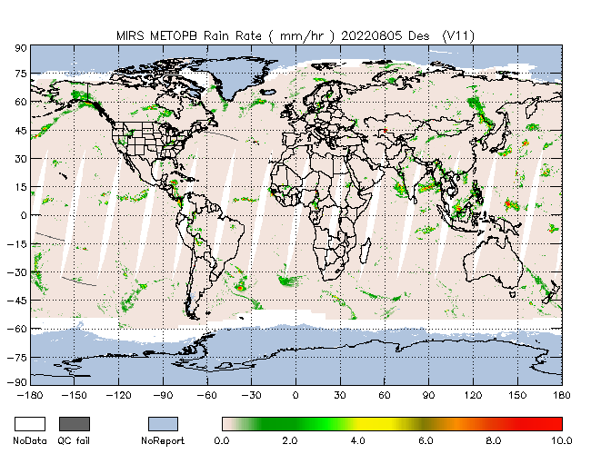 Rain Rate from Metop-B, Descending Orbit