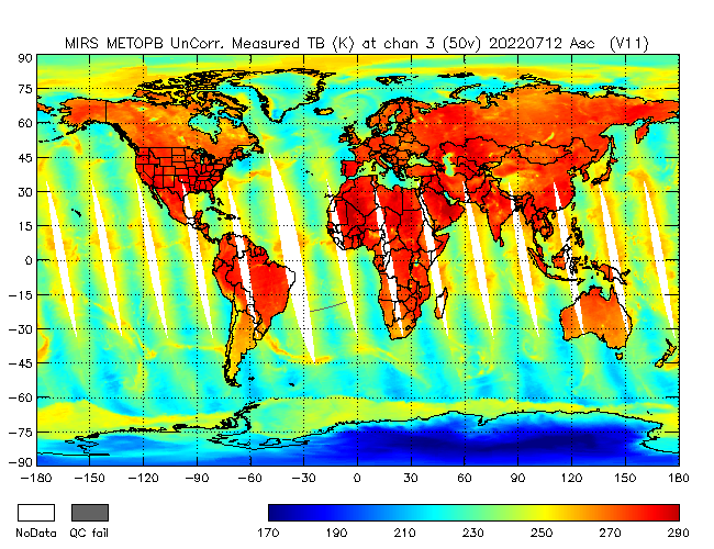 50v Brightness Temperature from Metop B, Ascending Orbit
