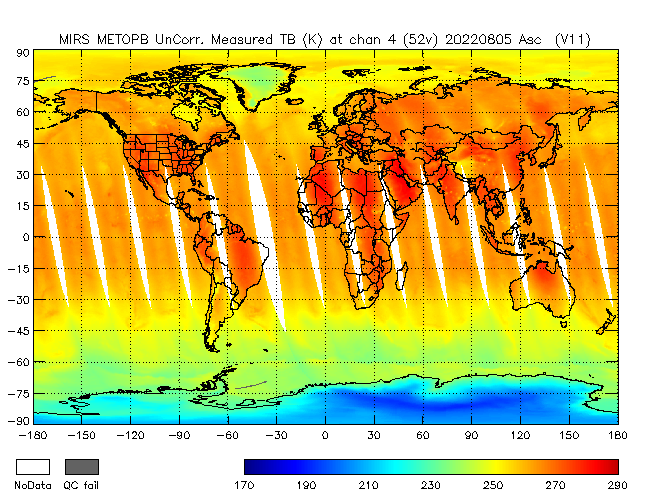 52v Brightness Temperature from Metop B, Ascending Orbit