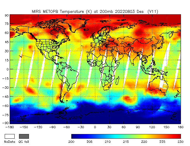 200mb Temperature from METOP-B, Descending Orbit