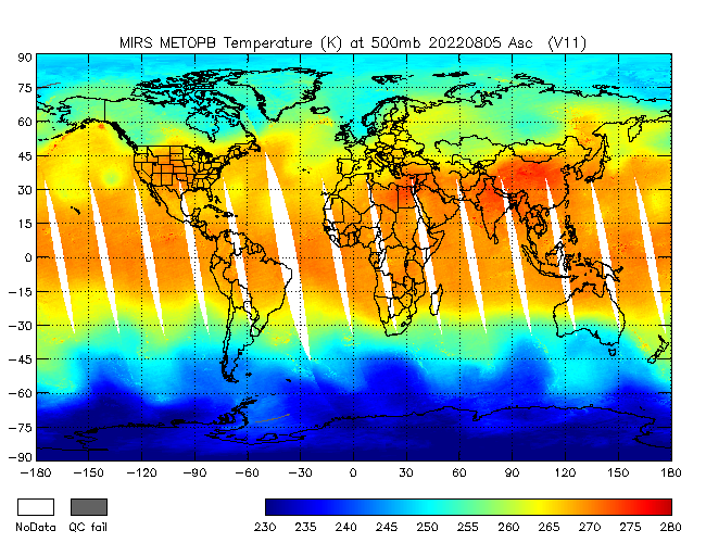 500mb Temperature from METOP-B, Ascending Orbit