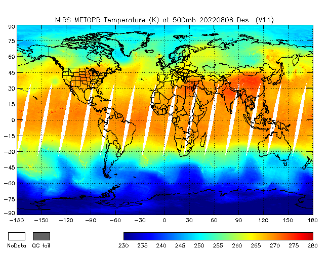 500mb Temperature from METOP-B, Descending Orbit