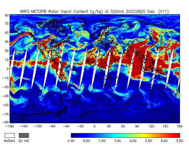 500mb Water Vapor from METOP-B, Descending Orbit