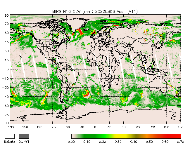 Cloud Liquid Wtr from NOAA-P, Ascending Orbit