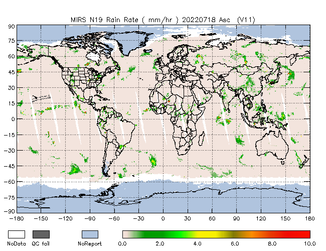 Rain Rate from NOAA-P, Ascending Orbit