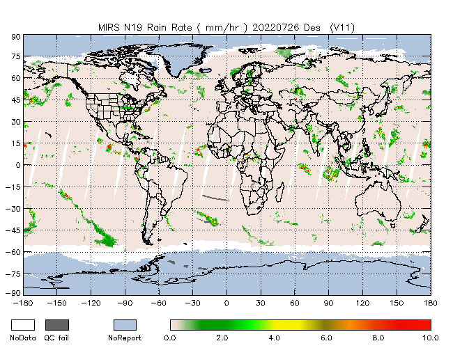 Rain Rate from NOAA-P, desending Orbit