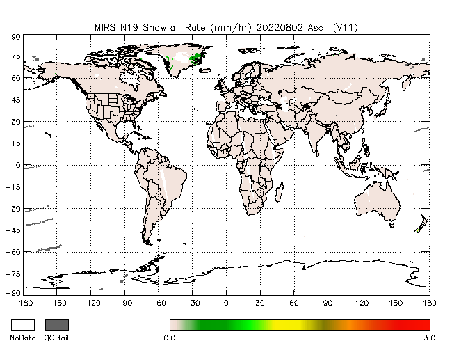 Snowfall Rate from NOAA-P, Ascending Orbit