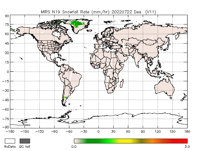 Snowfall Rate from NOAA-P, desending Orbit