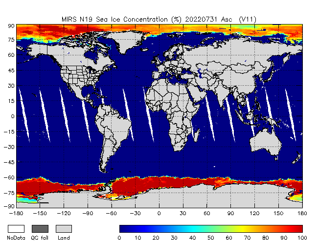 Sea Ice from NOAA-P, Ascending Orbit
