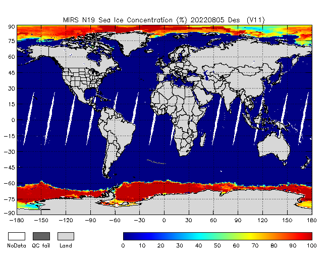 Sea Ice from NOAA-P, desending Orbit