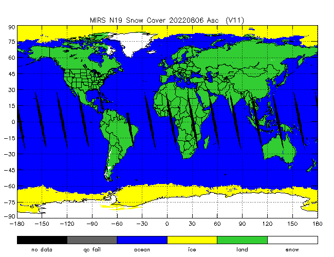 Snow Cover from NOAA-P, Ascending Orbit