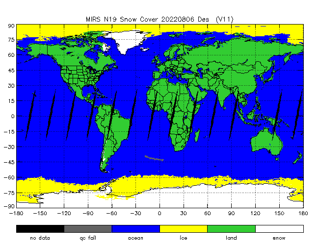 Snow Cover from NOAA-P, Desending Orbit