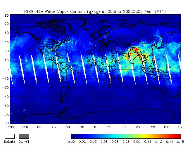 200mb Water Vapor from NOAA-19, Ascending Orbit