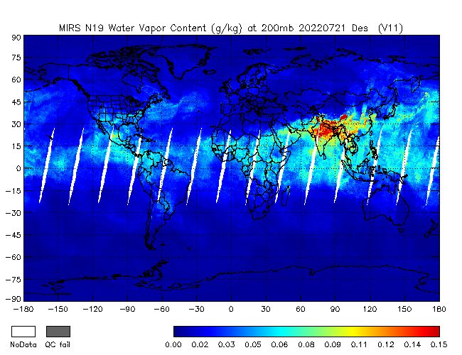 200mb Water Vapor from NOAA-19, Descending Orbit