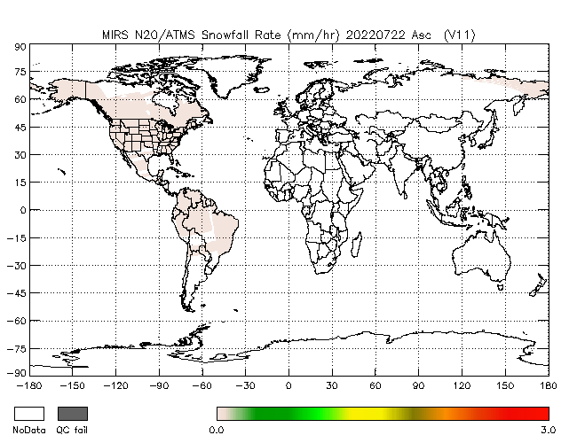 Snowfall Rate from NOAA-20, Ascending Orbit