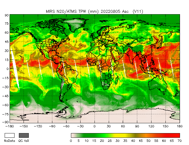 TPW from NOAA-20, Ascending Orbit