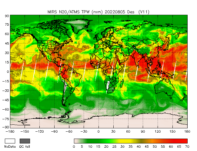 TPW from NOAA-20, Descending Orbit