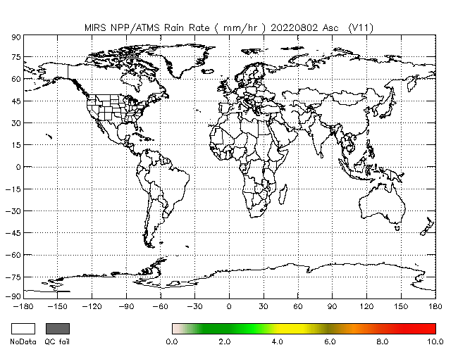 Rain Rate from NPP, Ascending Orbit