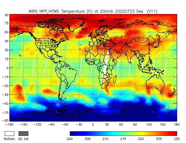 200mb Temperature from NPP, Descending Orbit