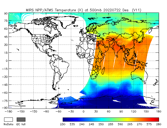 500mb Temperature from NPP, Descending Orbit